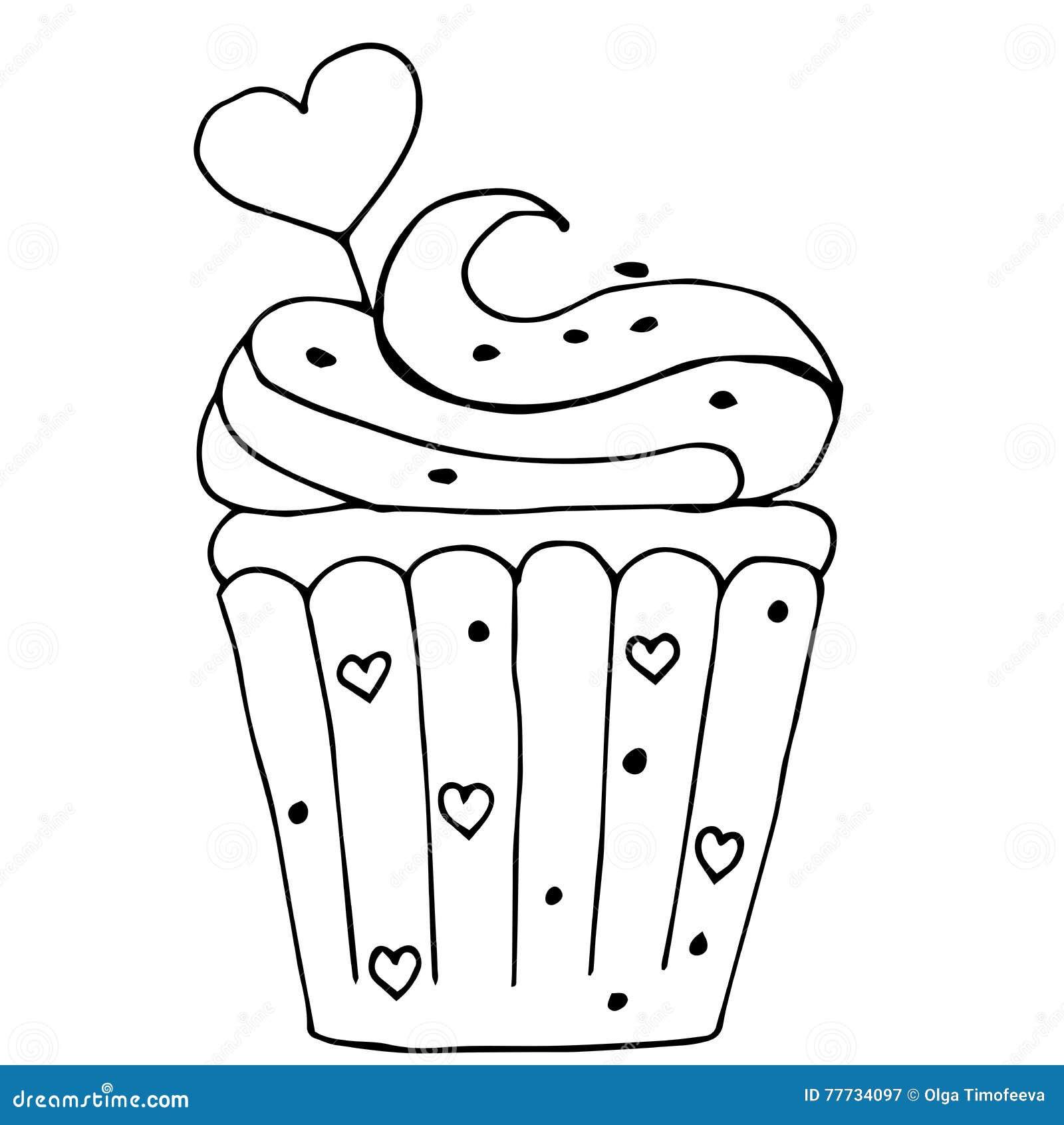 Torte comic schwarz weiß