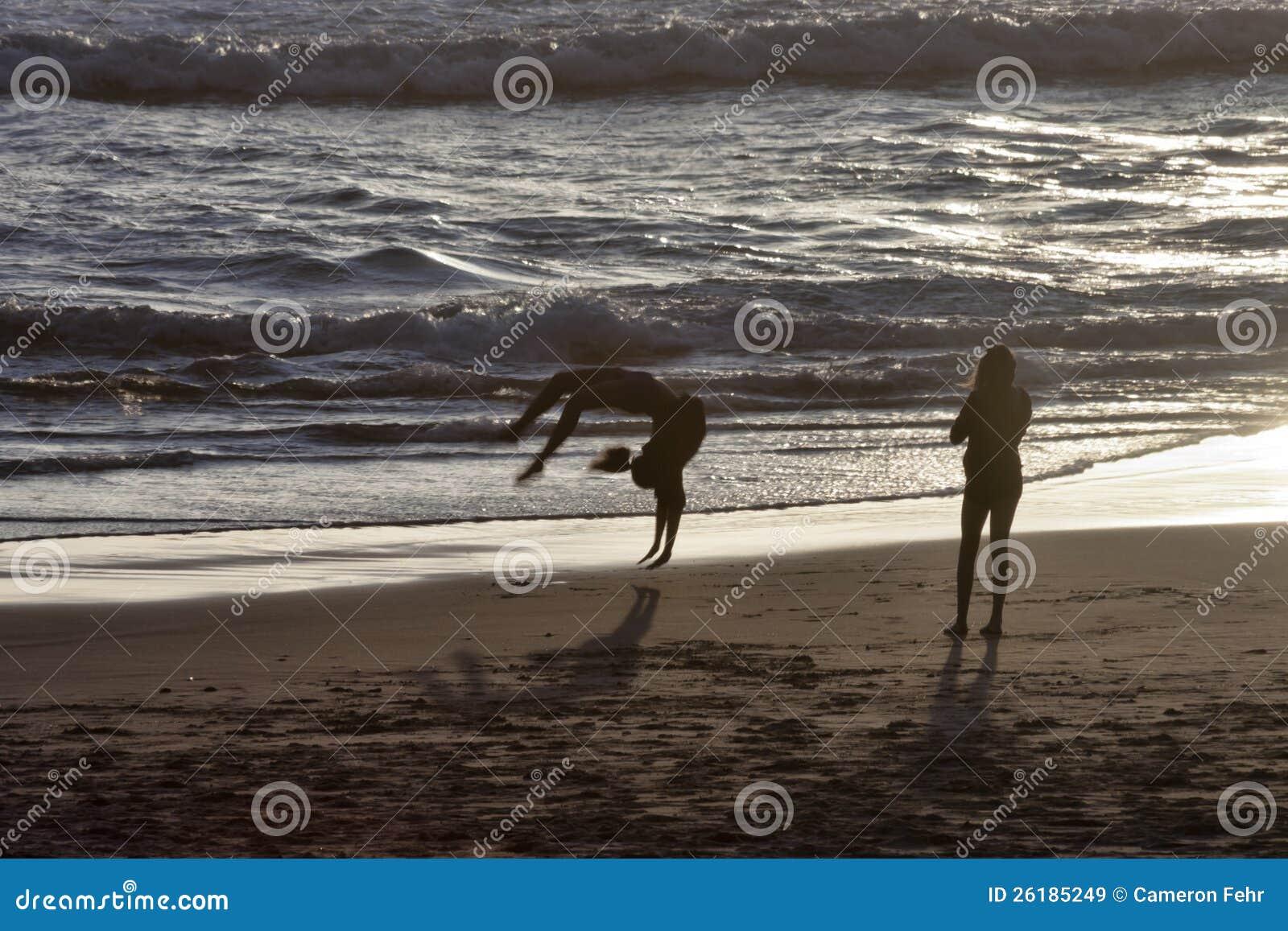 Backflips op het Strand