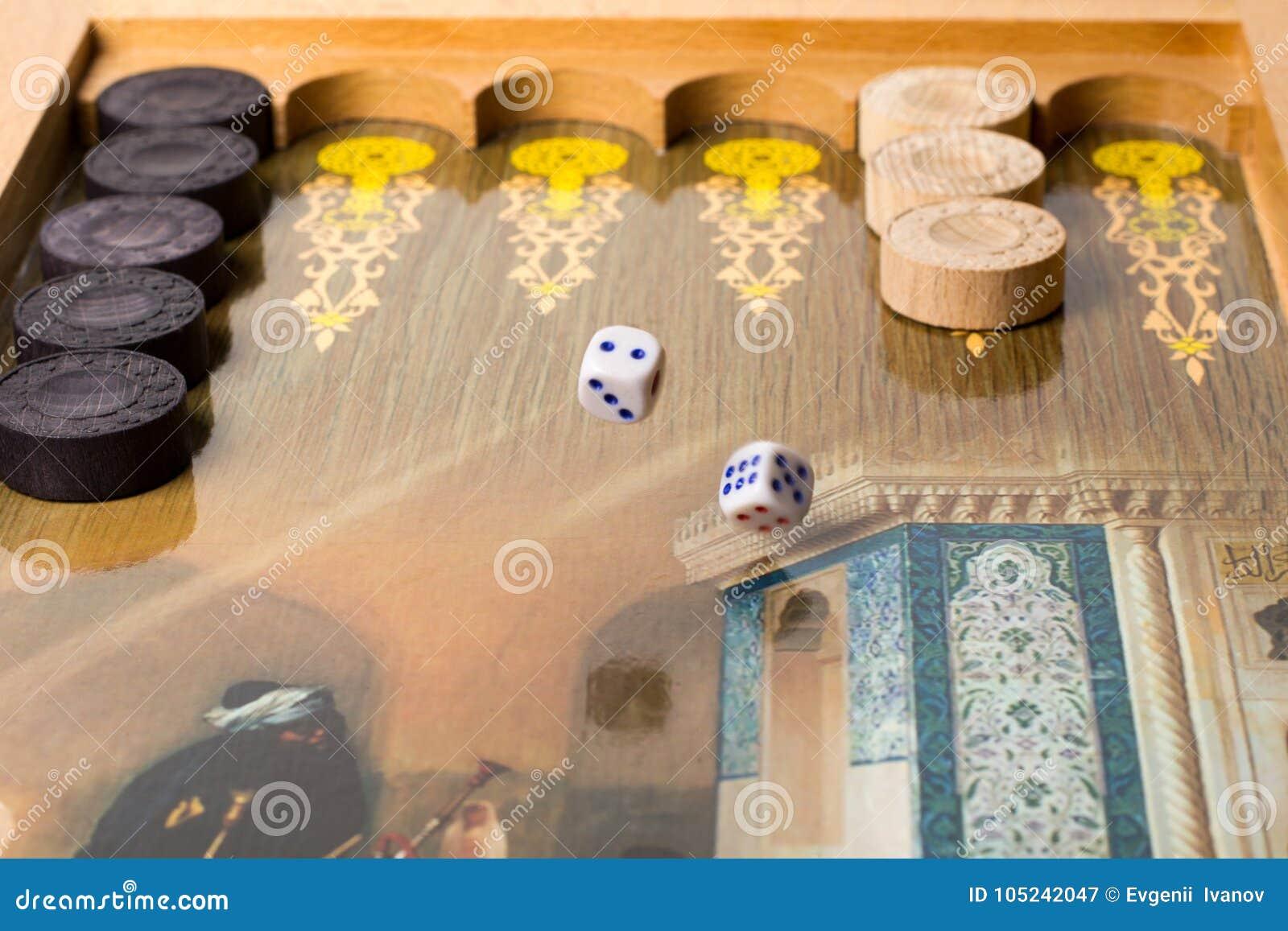 Backgammon Del Juego De Mesa Imagen De Archivo Imagen De Partido
