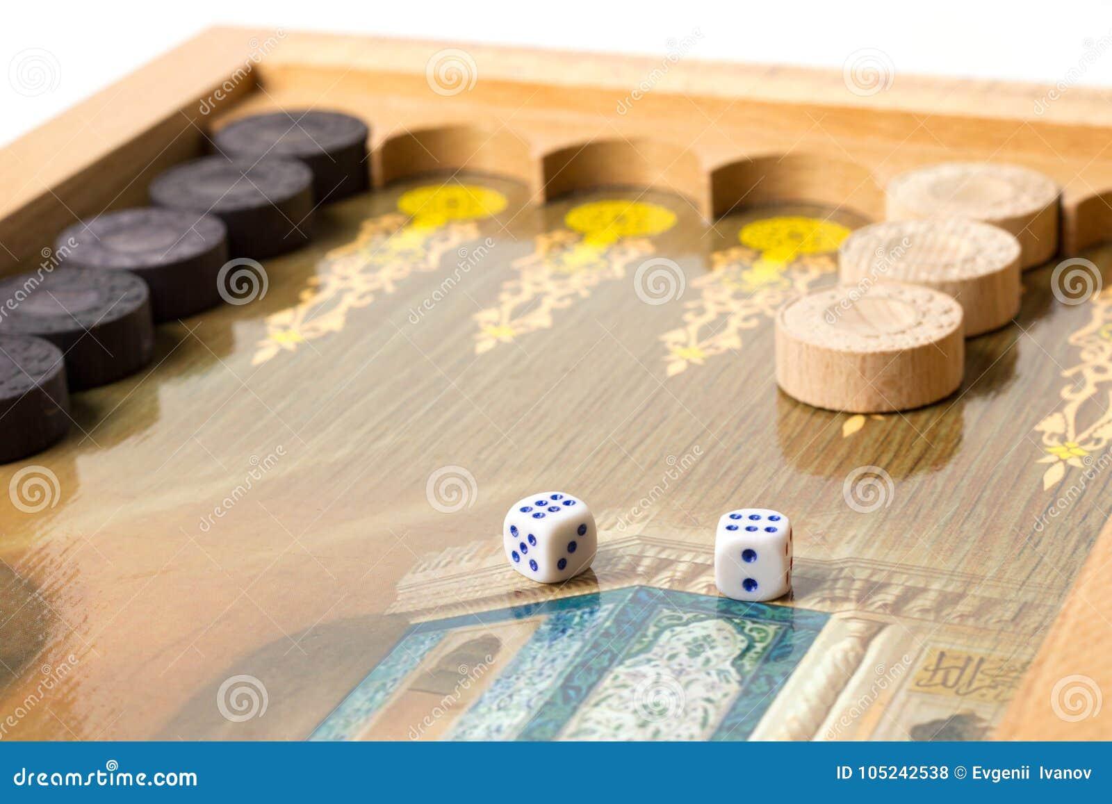 Backgammon Del Juego De Mesa Foto De Archivo Imagen De Suerte