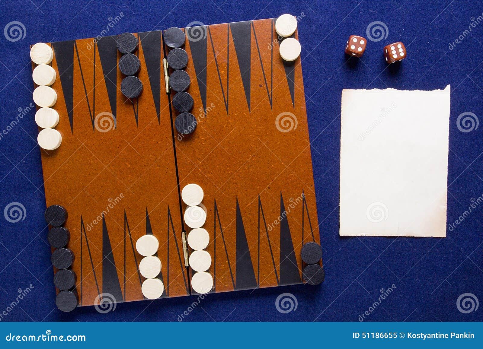 Backgammon Del Juego De Mesa Imagen De Archivo Imagen De Habitos