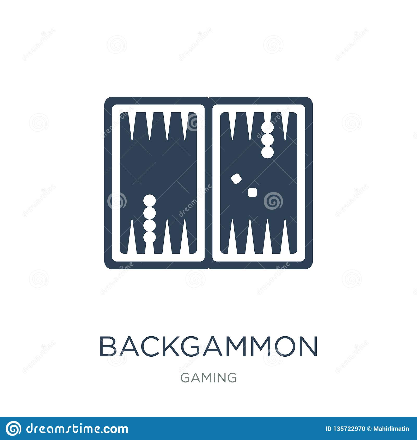backgammon icon in trendy design style. backgammon icon isolated on white background. backgammon vector icon simple and modern
