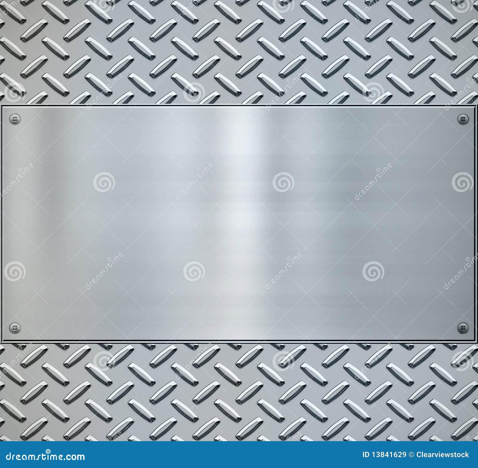 Backgorund brilhante do metal da placa do diamante