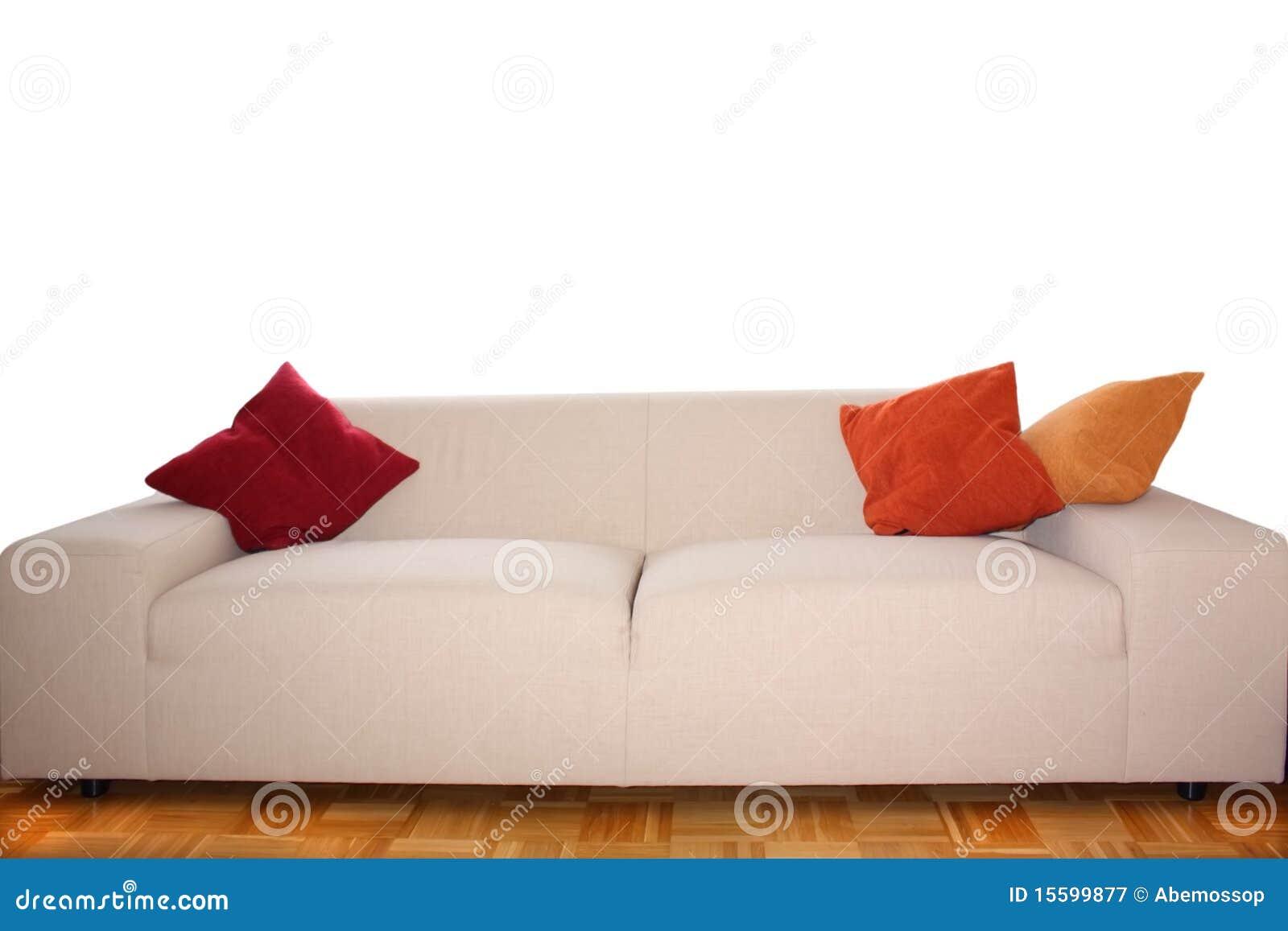 Backgound Big Comfy Sofa Royalty Free Stock Photography