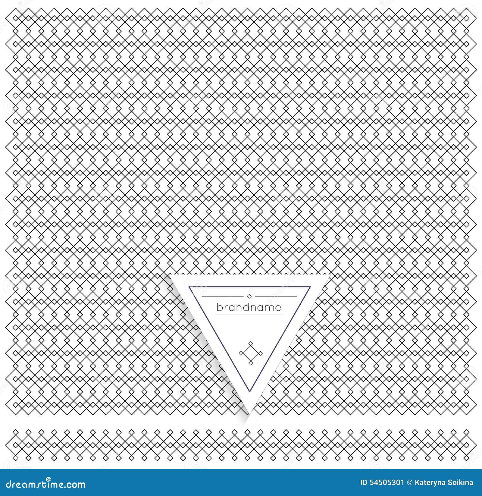 Backgound de ligne éléments géométriques de conception de vintage de hippie