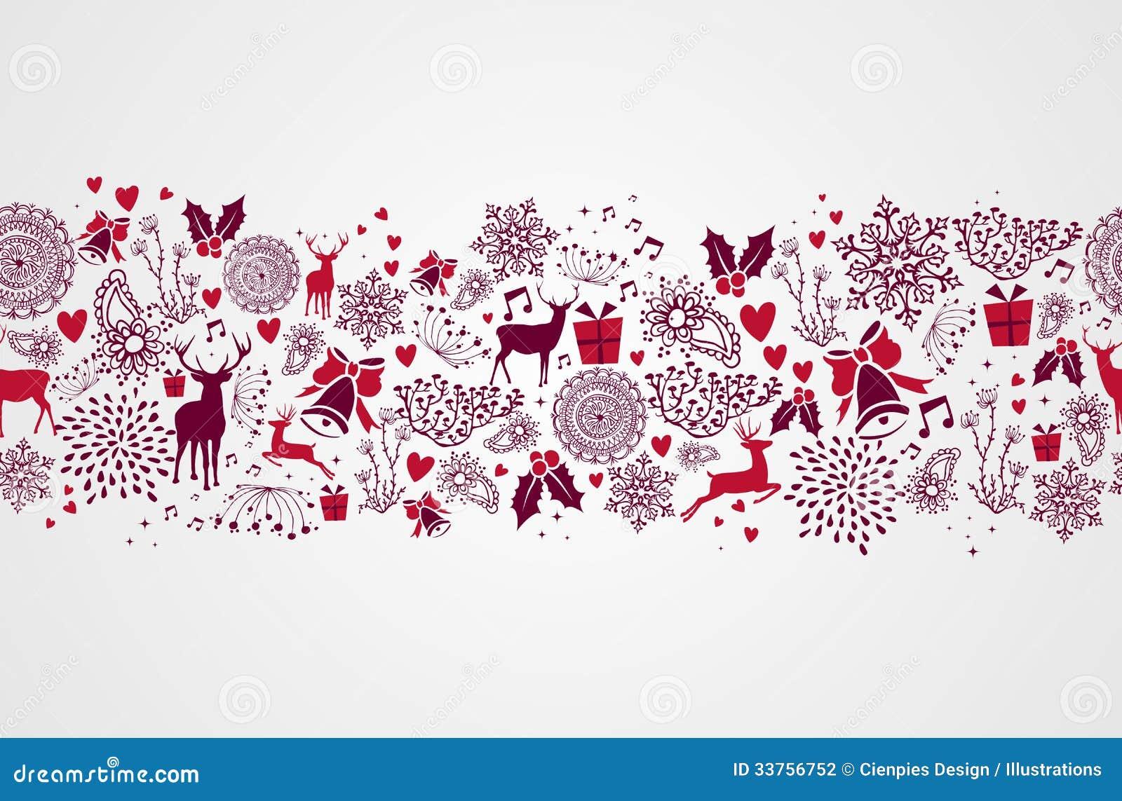 Backgr картины винтажных элементов рождества безшовное