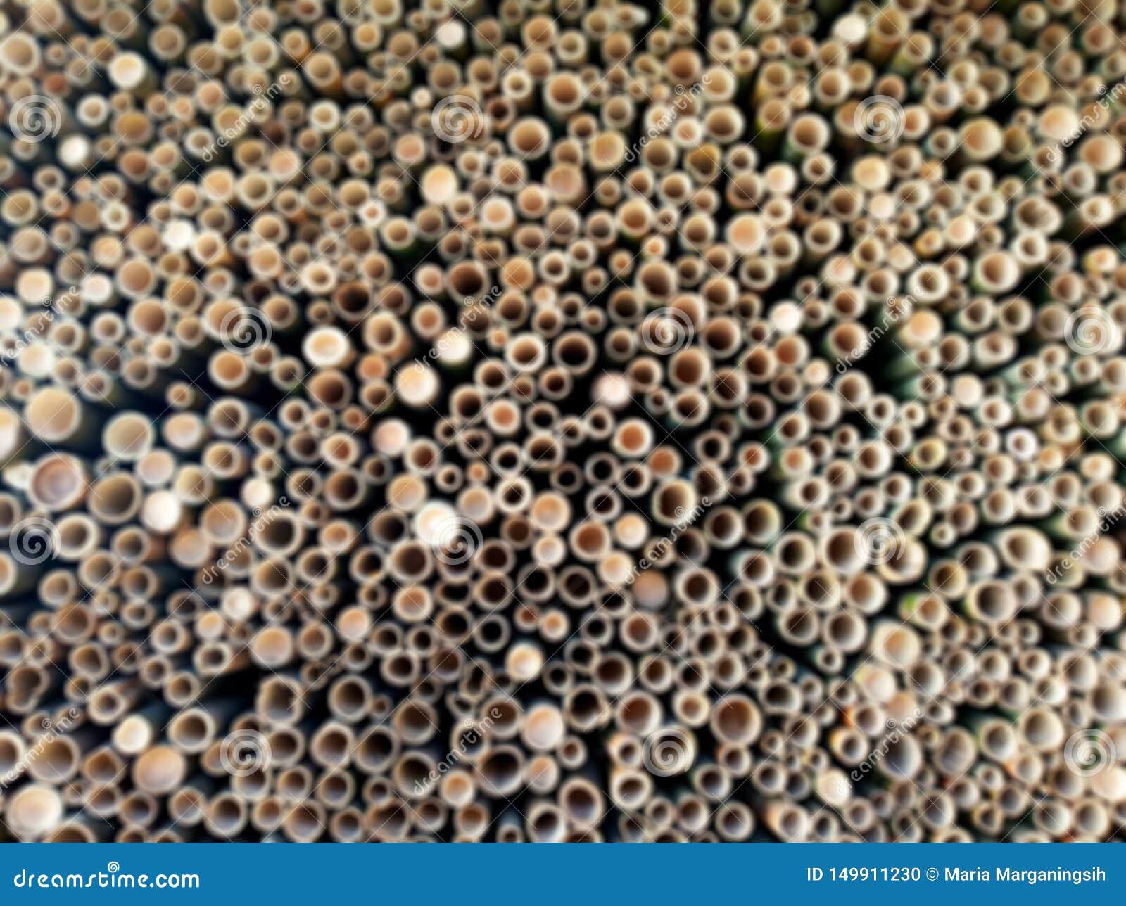 Backgroud trouble des trous de couper le fond abstrait en bambou