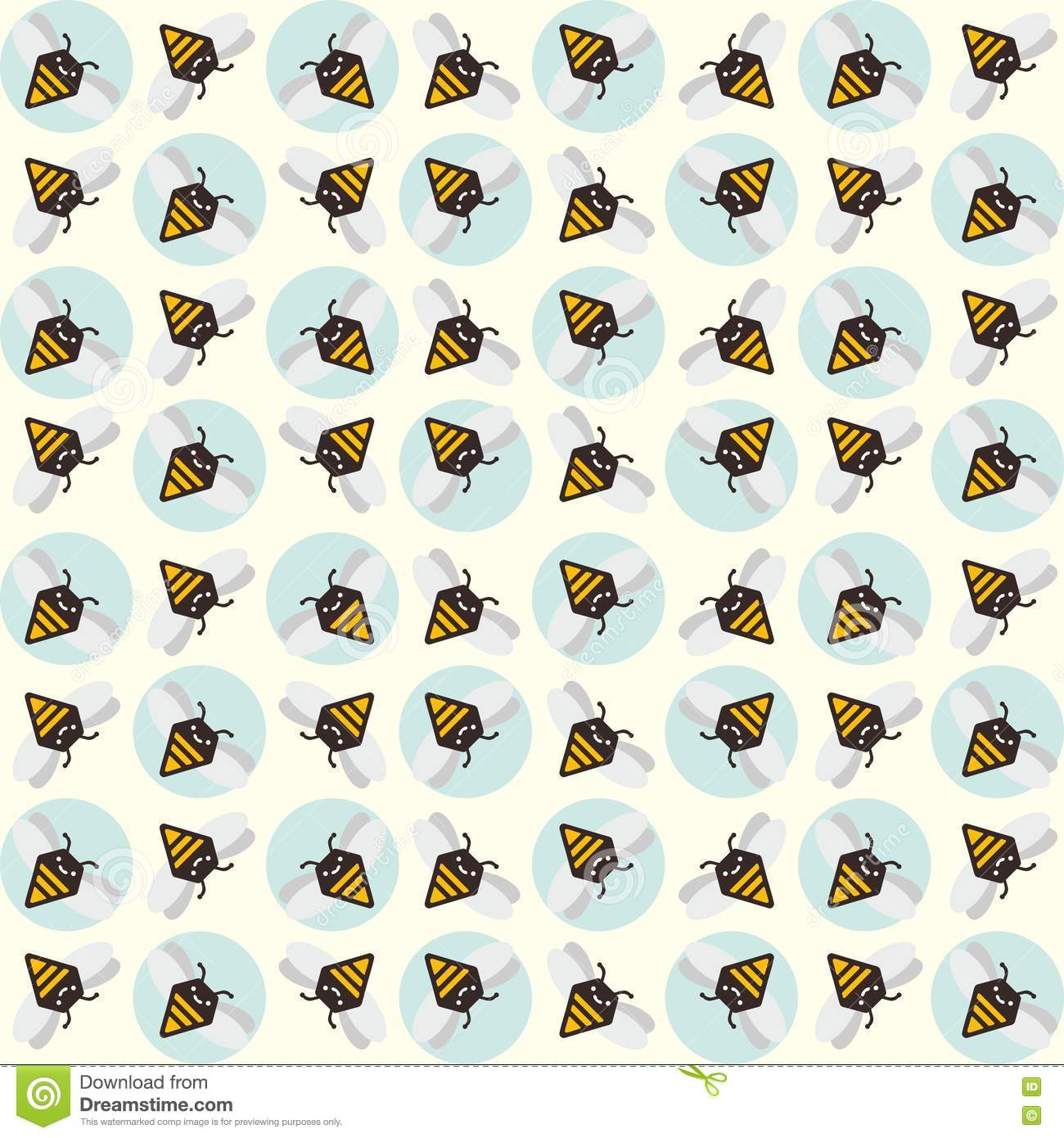 Background of abstract bees