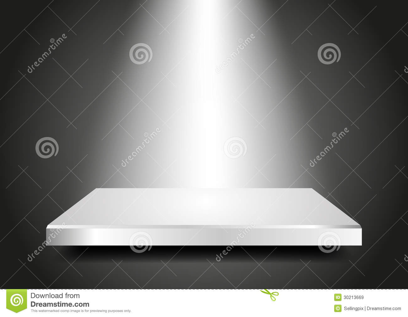 Blank Podium 3d Presentation Template For Your Pr Royalty