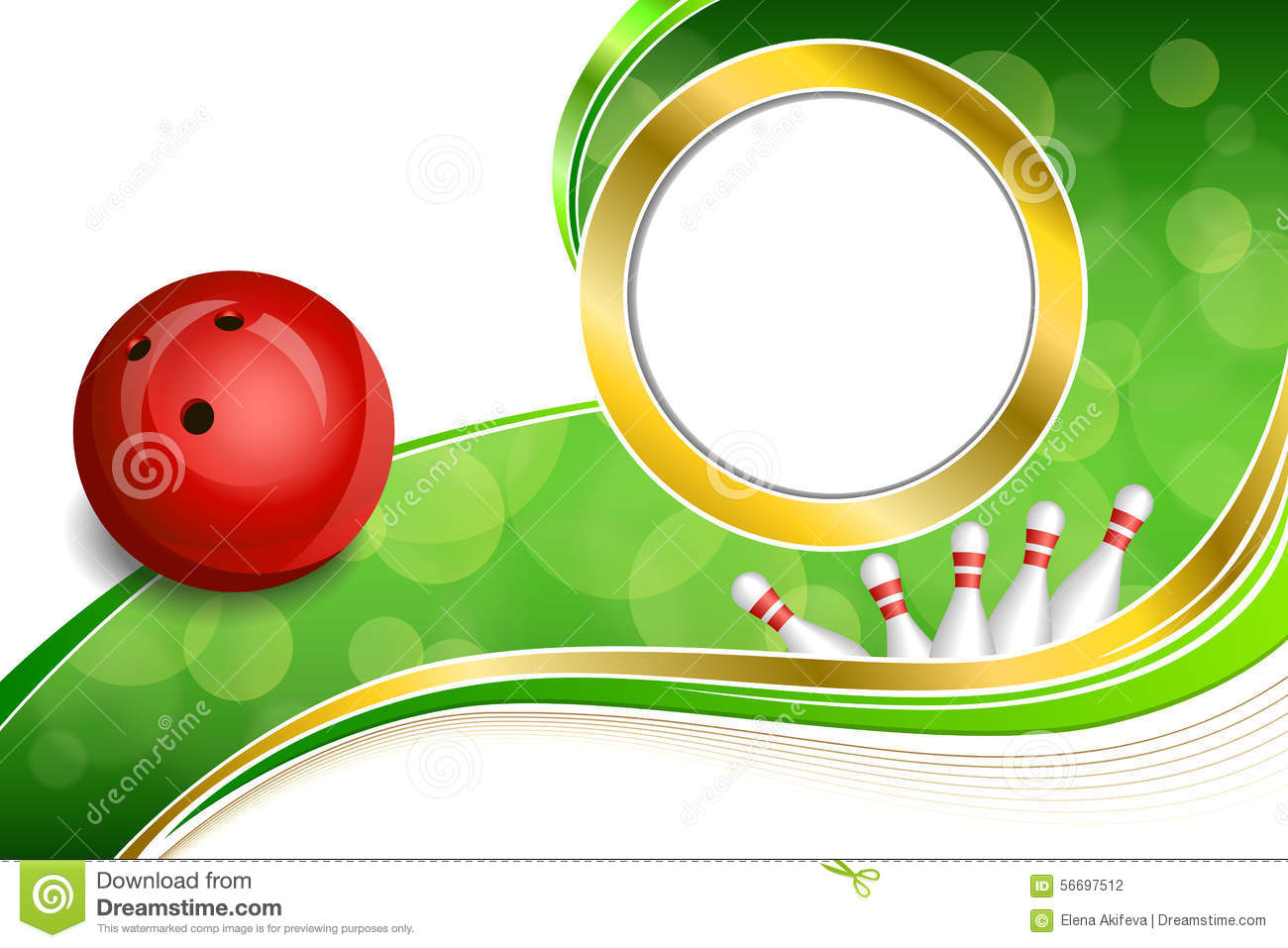 Background Abstract Volleyball Blue Yellow Ball Frame: Background Abstract Green Bowling Red Ball Gold Frame