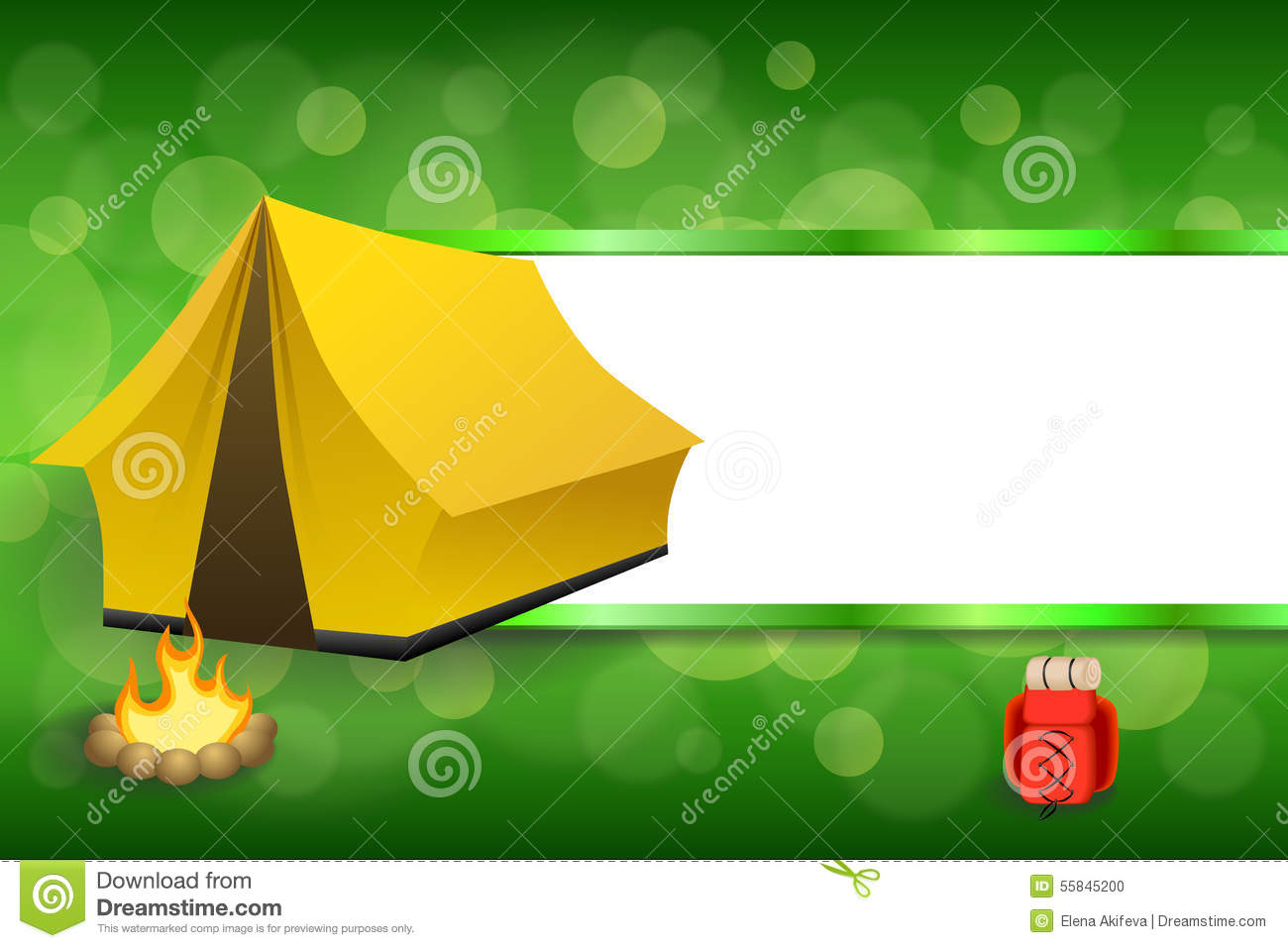 Background Abstract Green Camping Tourism Yellow Tent Red ...