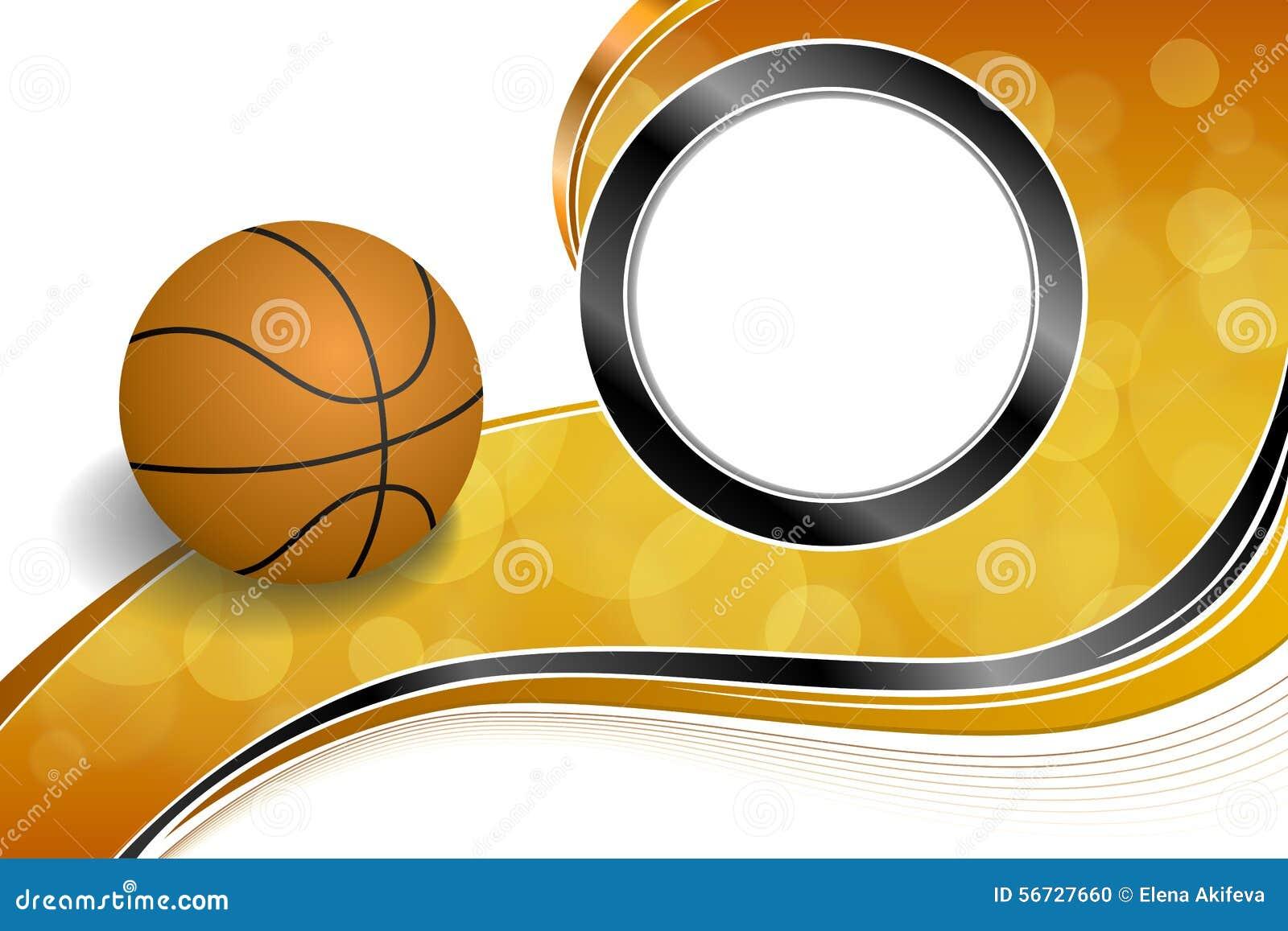 Color Sport Background Football Basketball Hockey Stock: Background Abstract Orange Black Sport Basketball Ball
