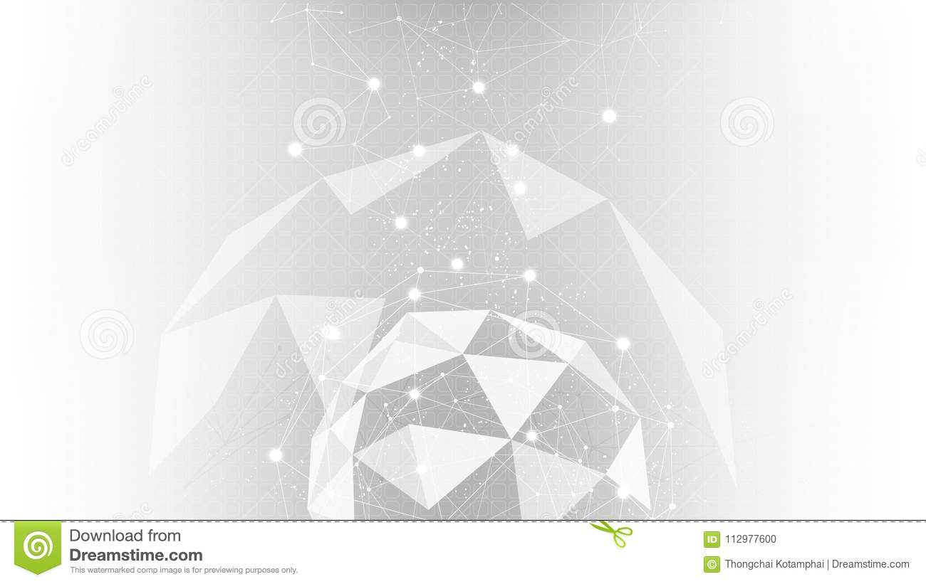 Background abstract polygon data technology communication vector