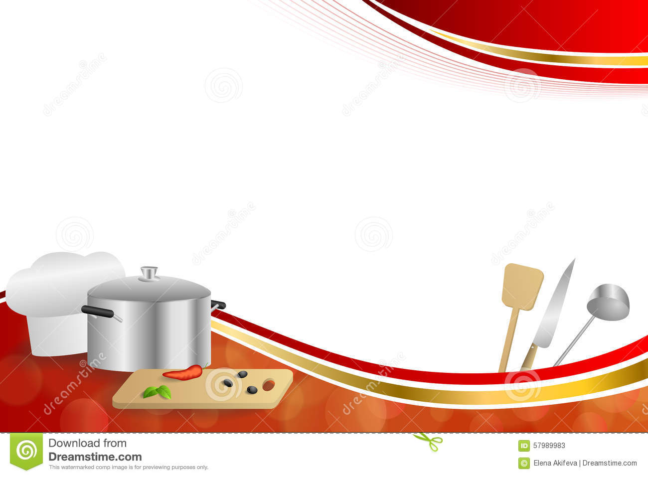 Background Abstract Red Cooking White Hat Saucepan Soup ...