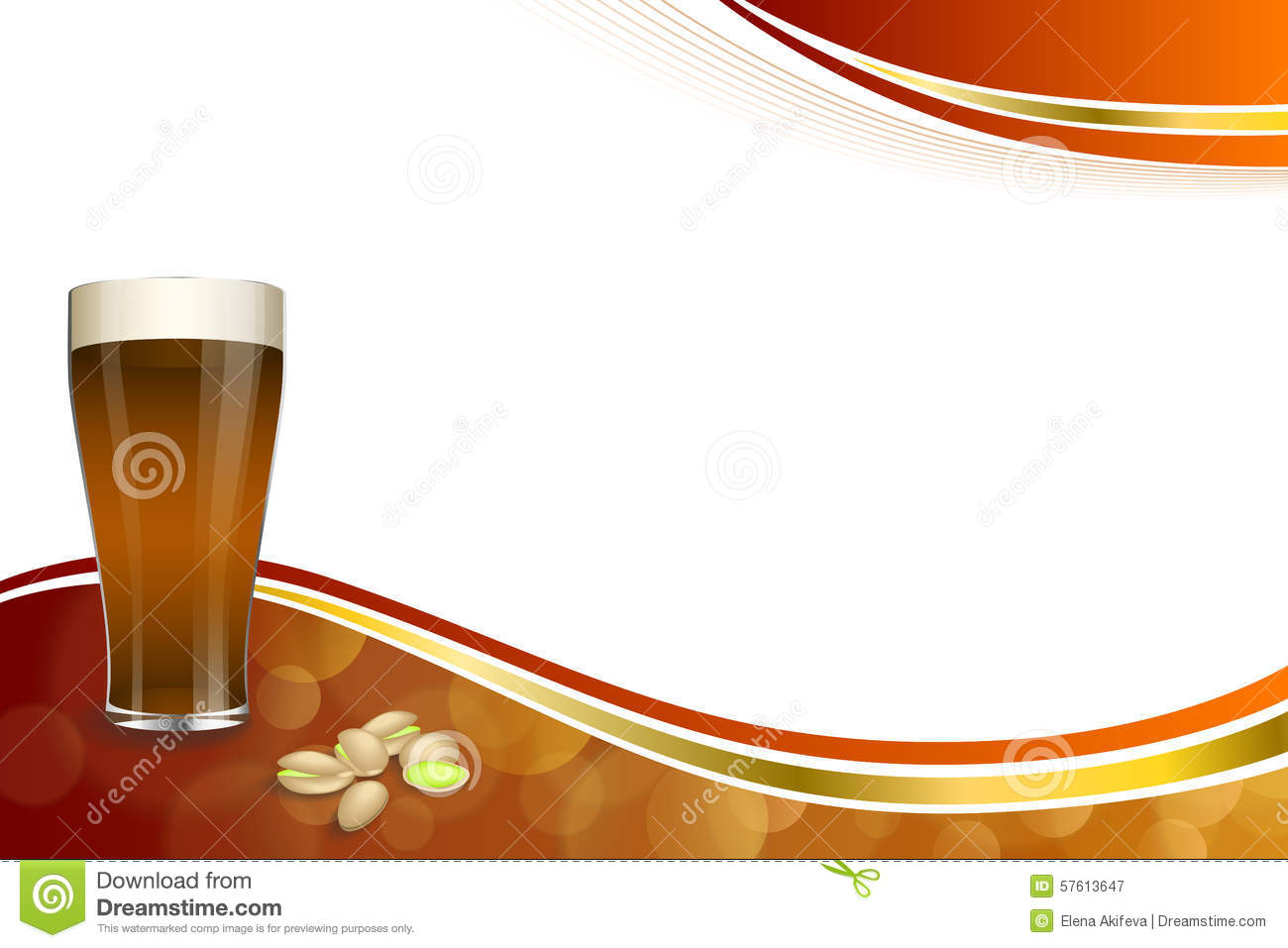 Background Abstract Red Gold Drink Glass Dark Beer Pistachios Frame ...