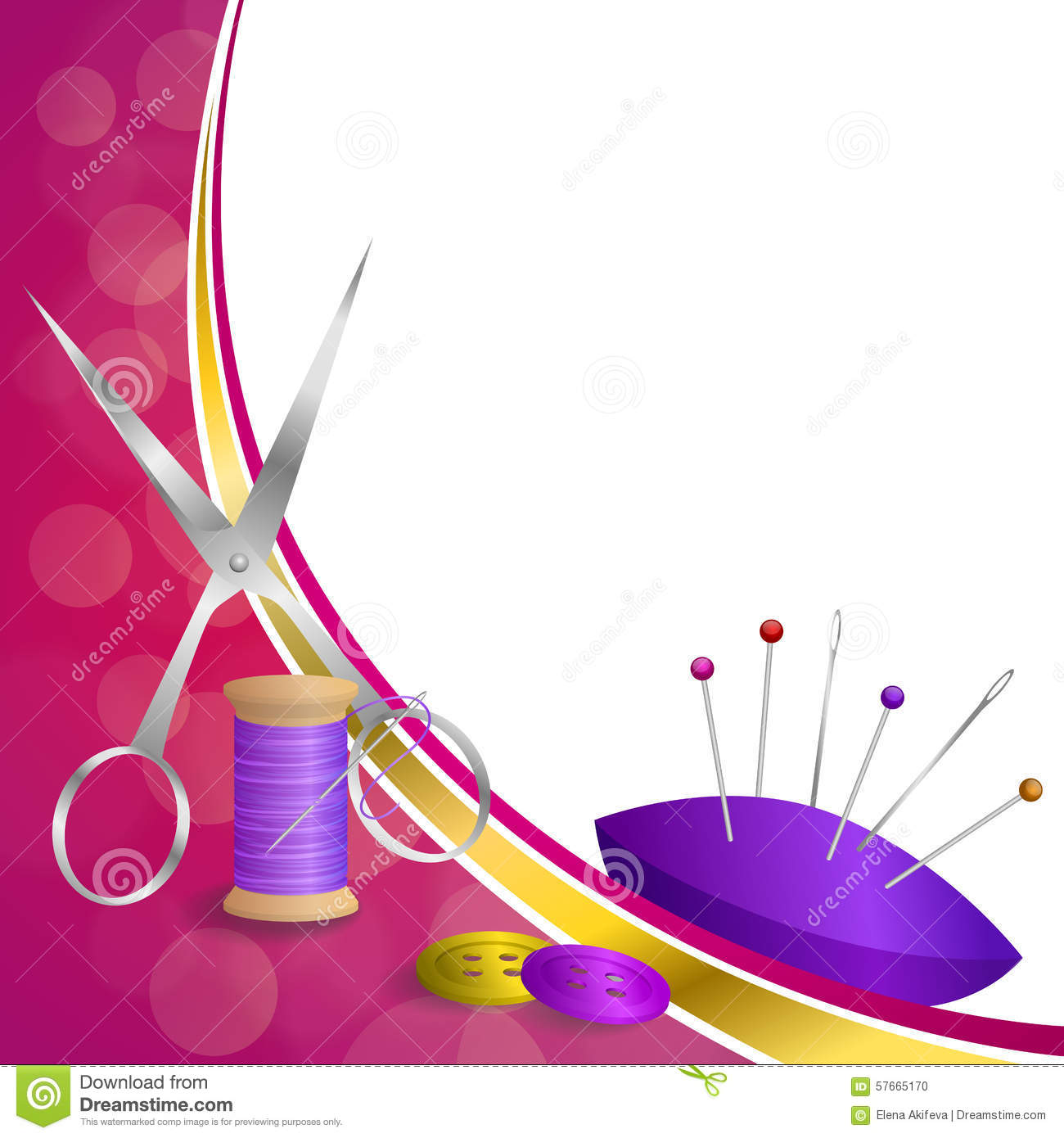 background abstract sewing thread equipment scissors