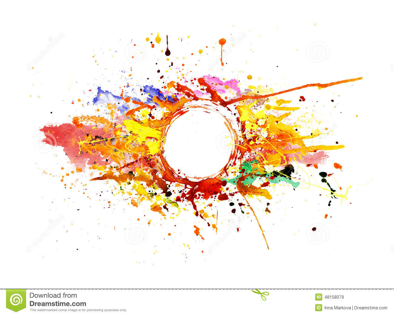 Colorful Background Paint Splash P