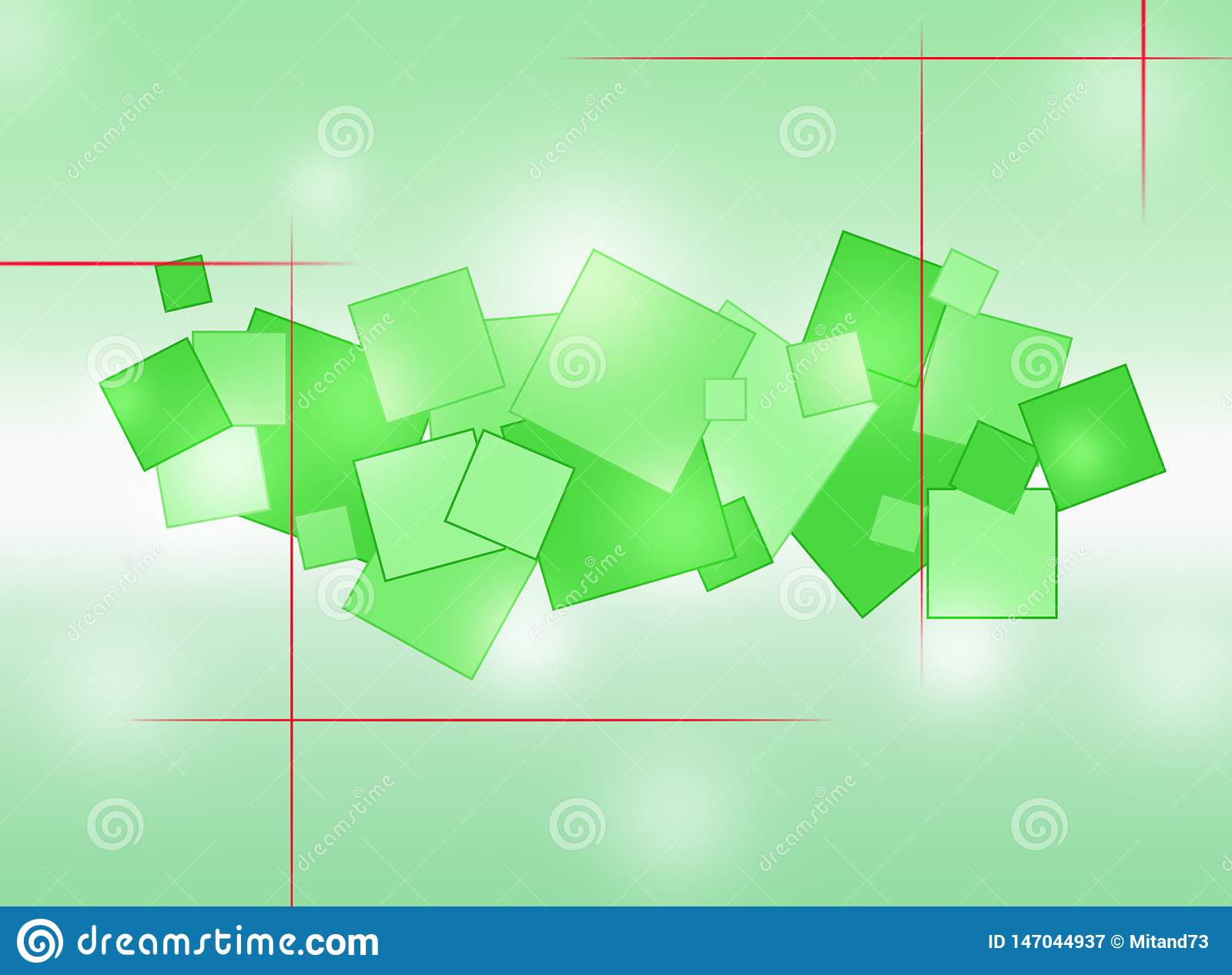 Background. Abstraction with colored circles