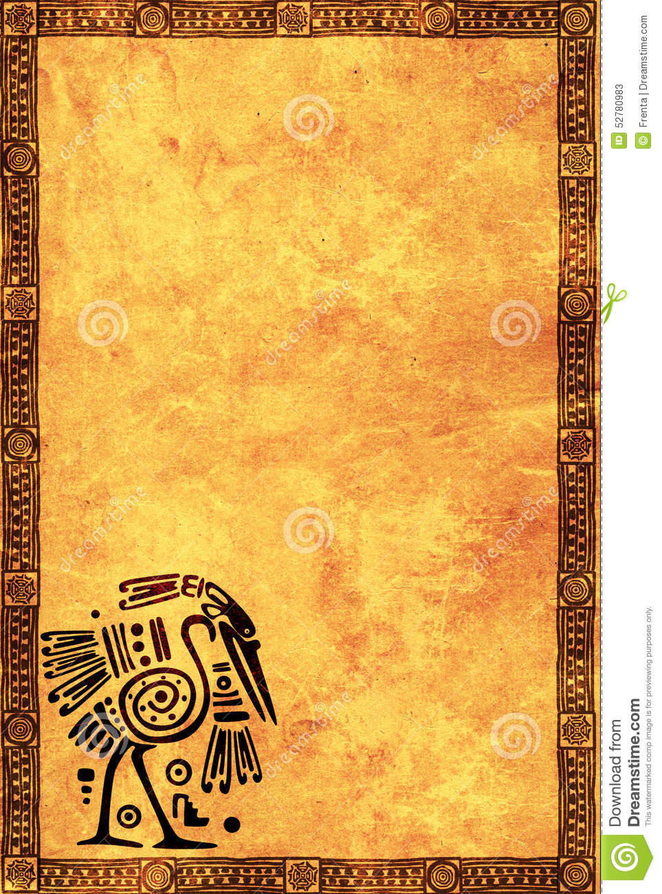 Background With American Indian National Patterns Stock