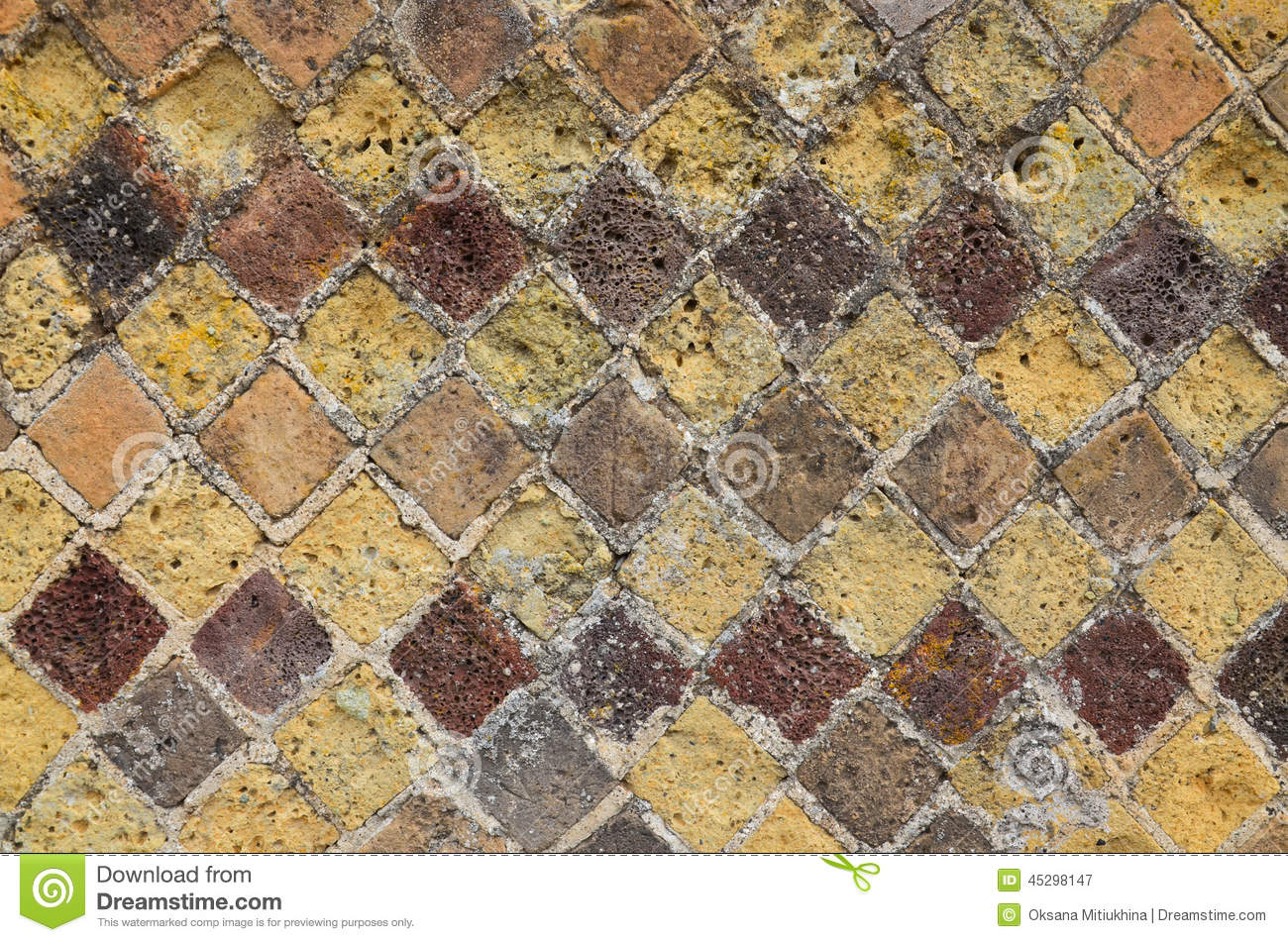 Tessellation stock photos download 905 images the roman tessellation remains on the ancient wall a dailygadgetfo Images
