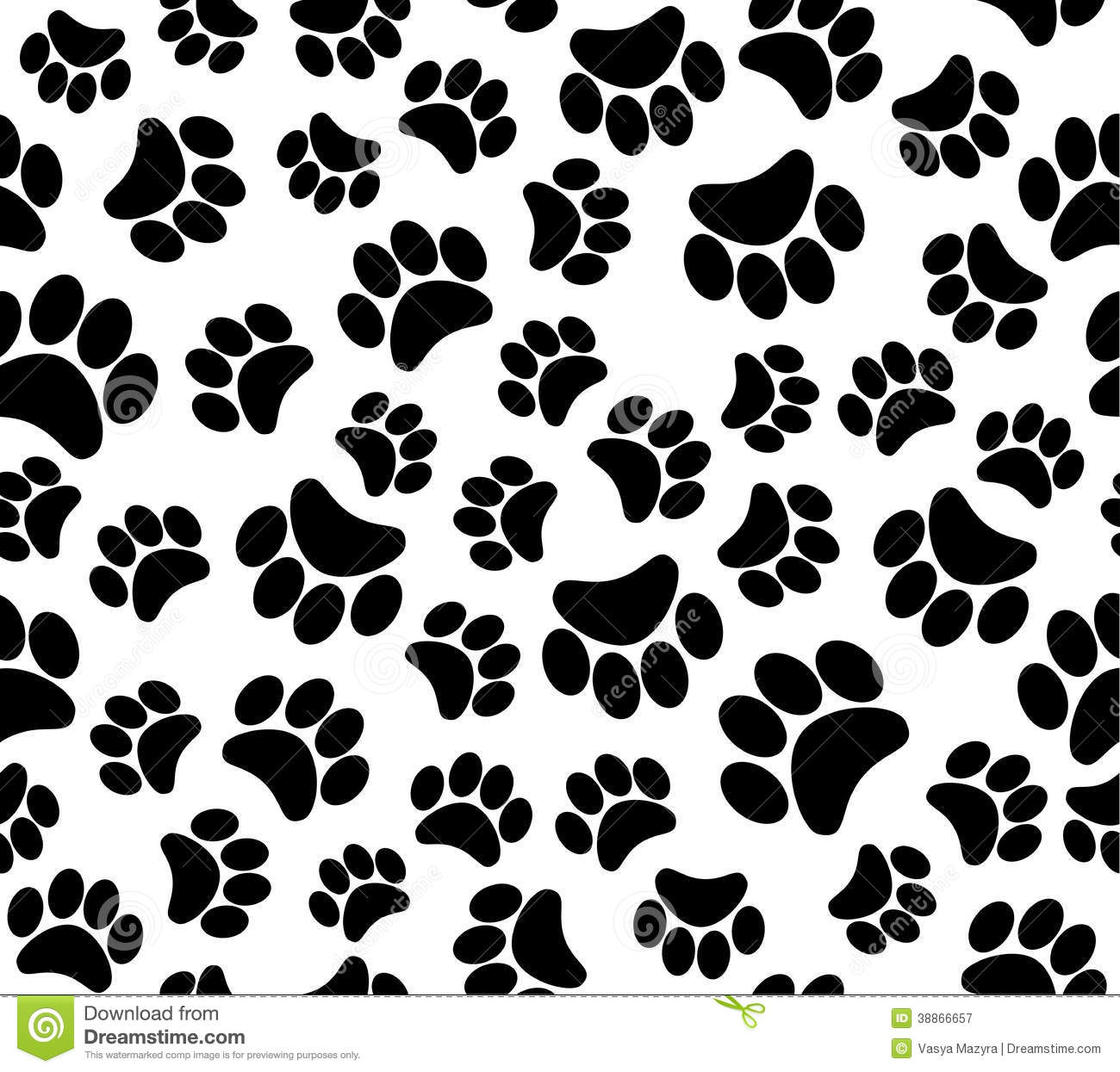 Background Animal Footprints Seamless Pattern Stock Vector ...