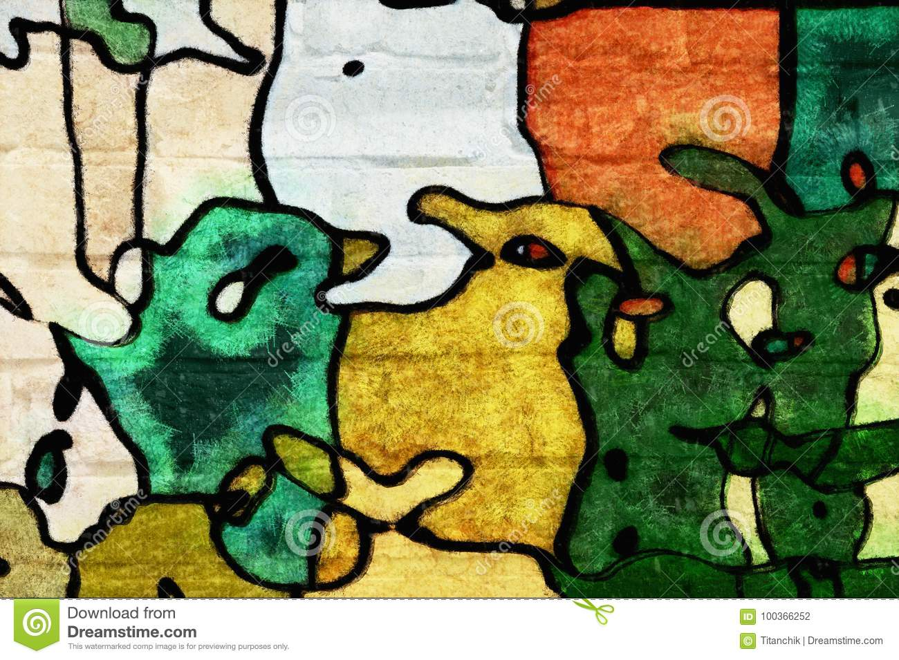 Background- Art Graffiti Wall Stock Illustration - Illustration of ...