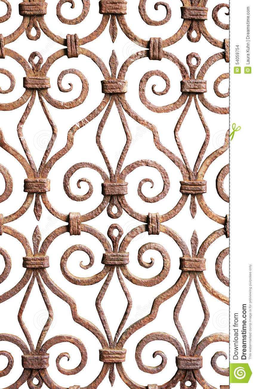 Background art wrought iron grillwork