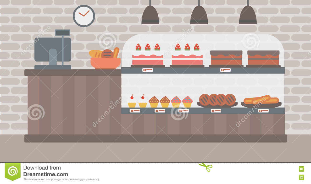 Background Of Bakery Stock Vector Image Of Business