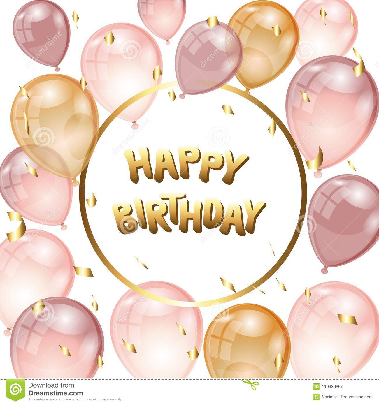Background With Balloons And Confetti Stock Vector Illustration Of Place Holiday 119480857