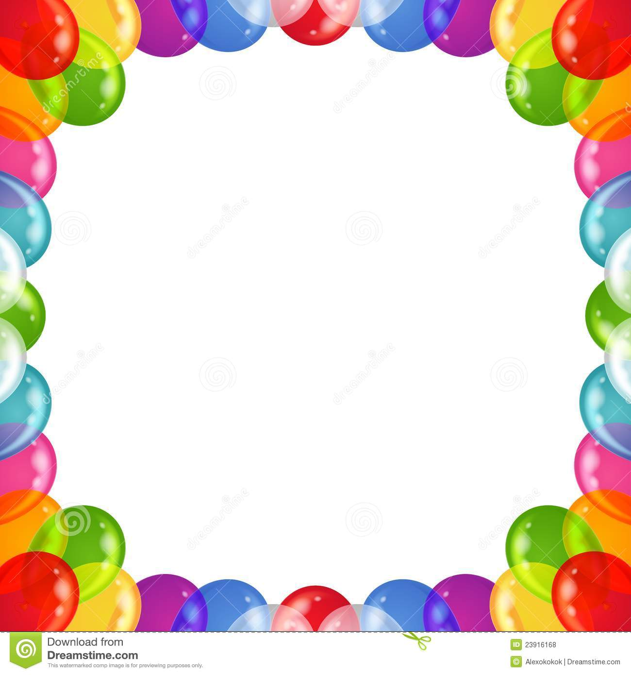 background balloons frame