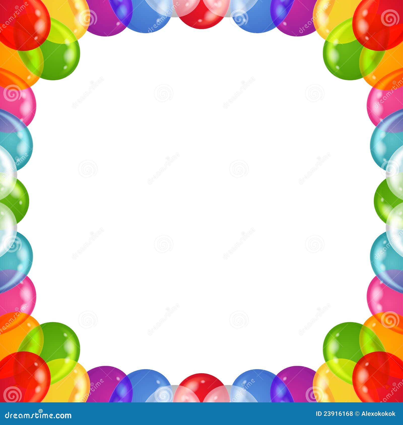 background balloons frame