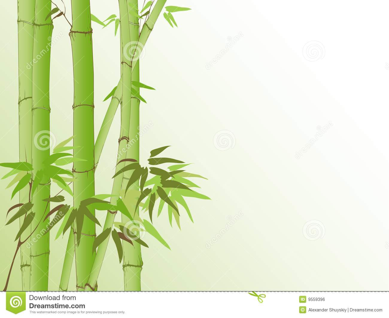 Background with bamboo pattern, design for card or background.
