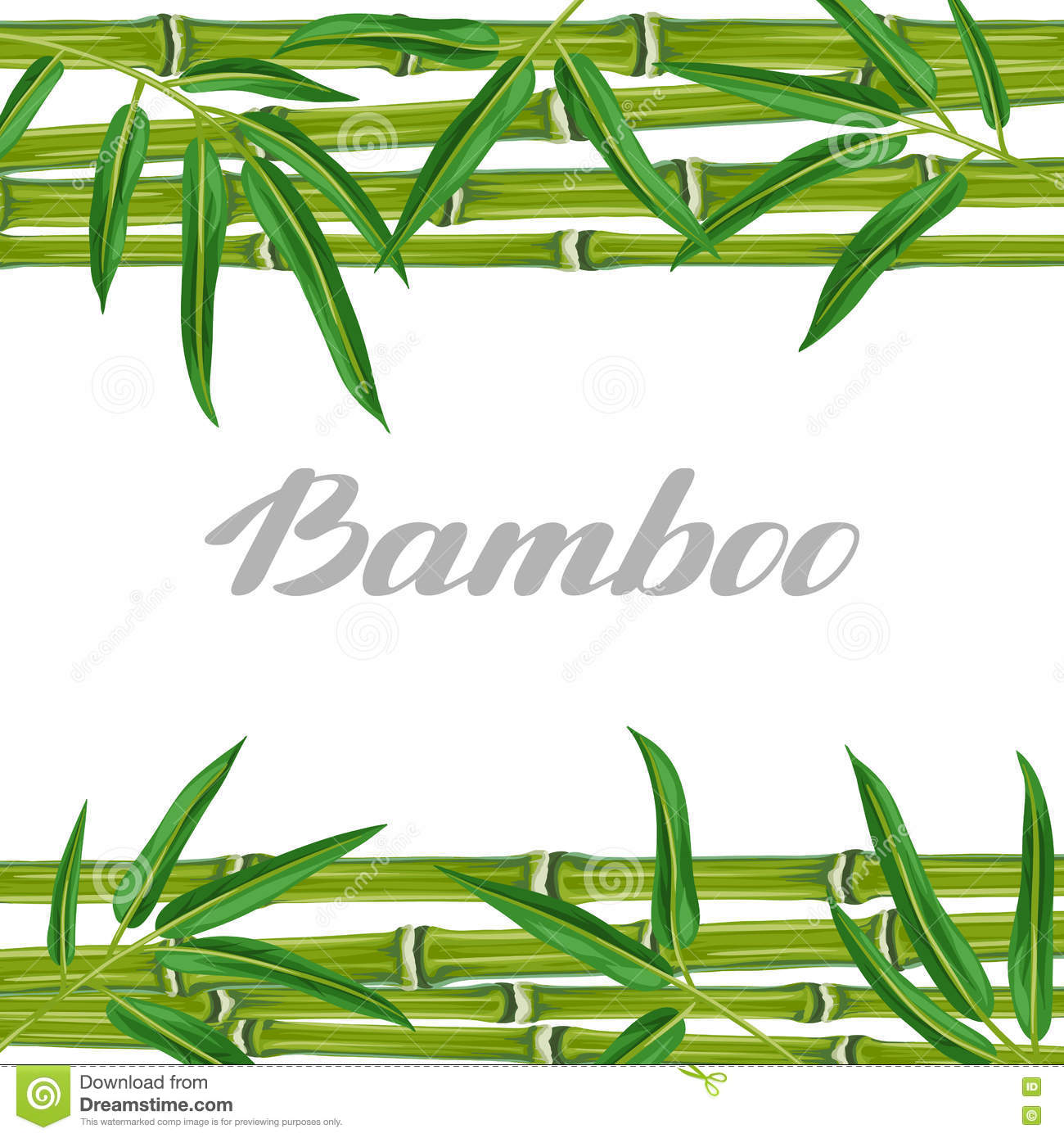 Background With Bamboo Plants And Leaves. Image For Holiday ...