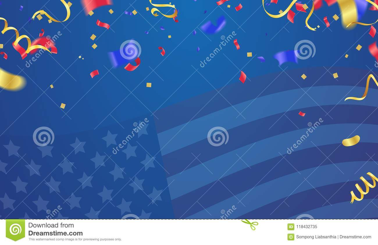 Background Banner For 4th July, Independence Day  USA