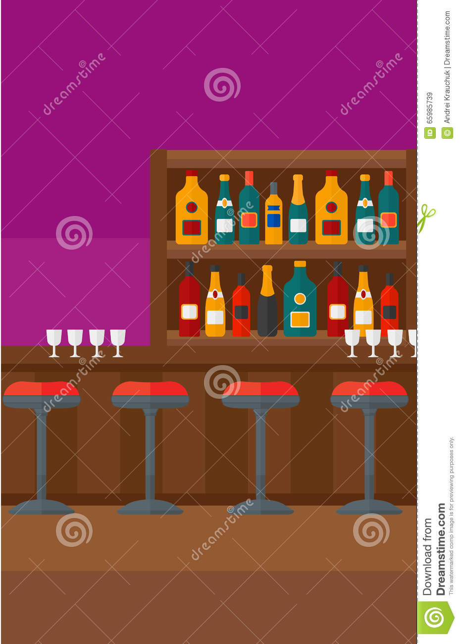Cartoon kitchen counter gallery - Background Of Bar Counter Stock Vector