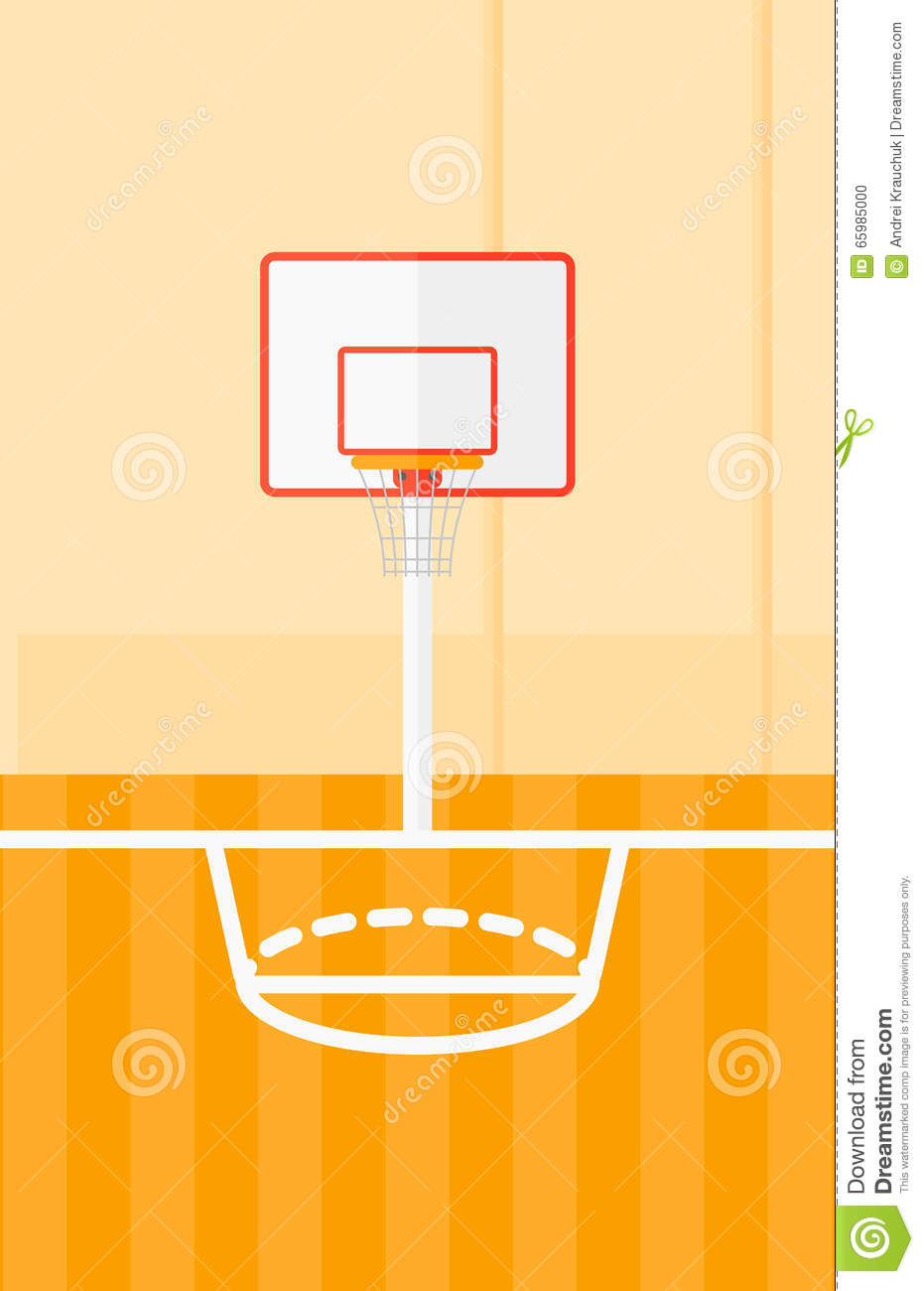 Background Of Basketball Court. Stock Vector - Image: 65985000