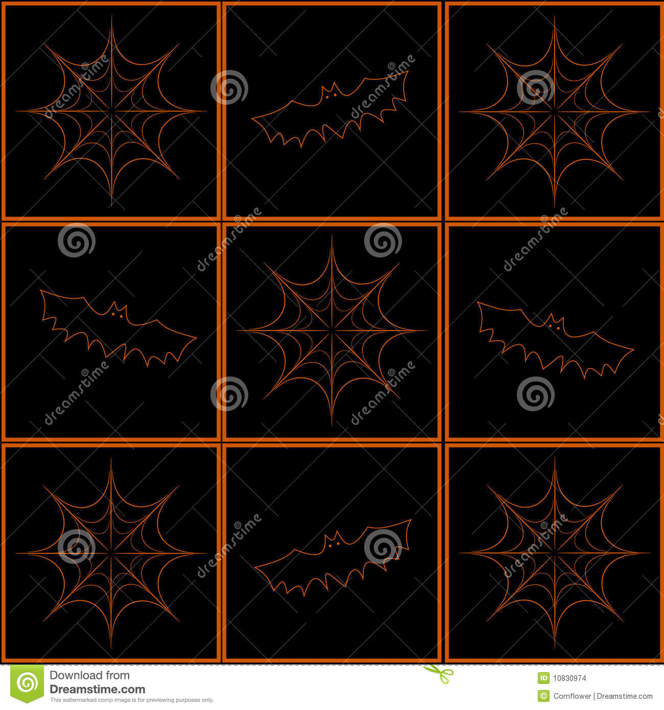 Background With Bats And Cobweb Stock Images - Image: 10830974