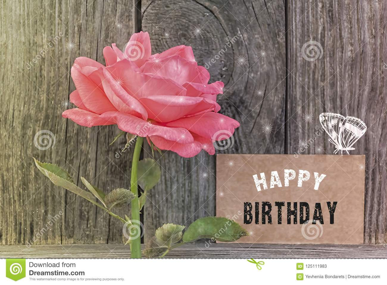 Happy Birthday Card Stock Image Image Of Floral Beautiful 125111983