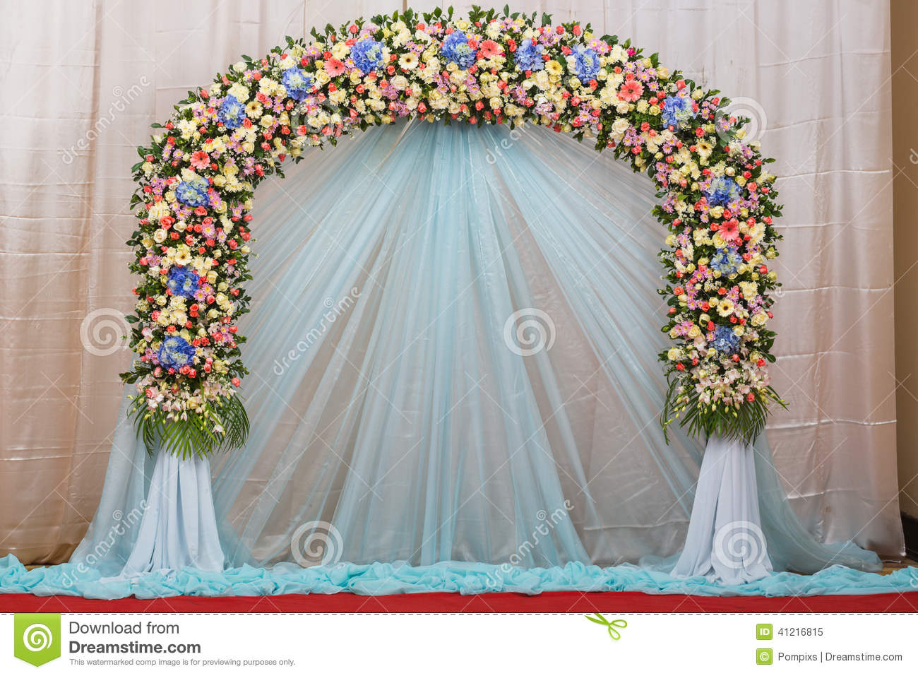 Background Of Beautiful Flower Wedding Decorate Stock