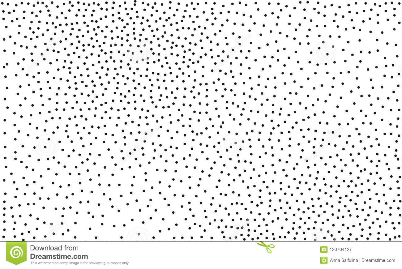 Background With Black Dots Style Of Pointillism Dotted
