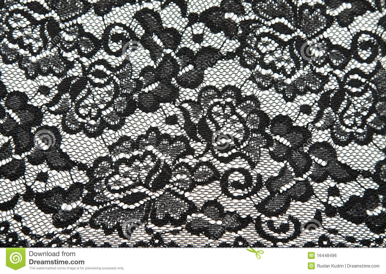 Background From Black Lace With Pattern Royalty Free Stock Image ...