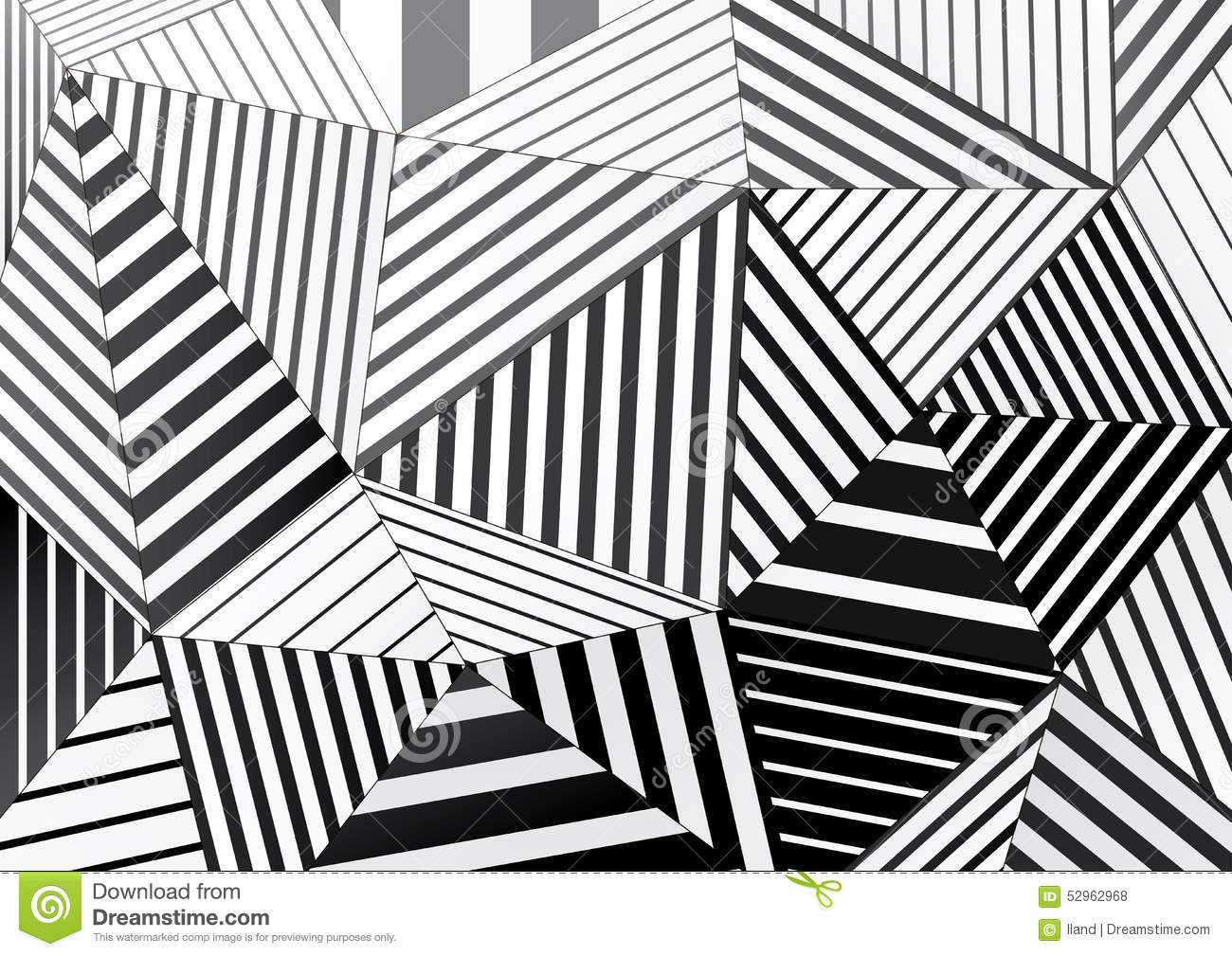 background of black and white striped triangles for