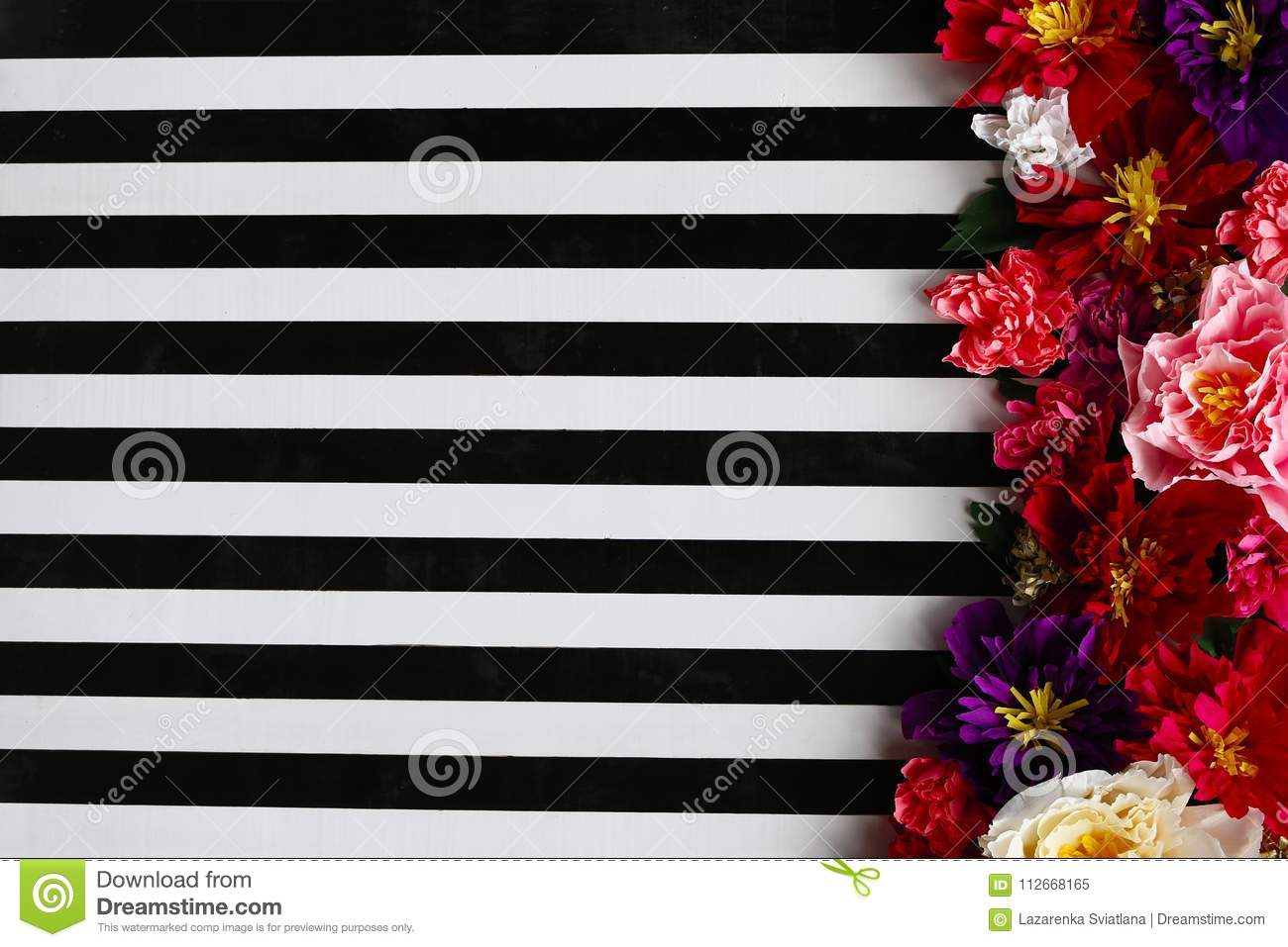 Background Striped With Flowers Stock Image Image Of Color