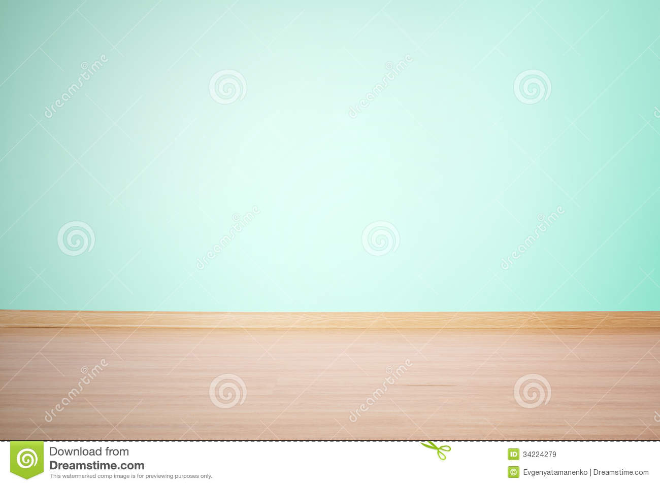 Background Blank Wall And Floor In A Blue Green Color