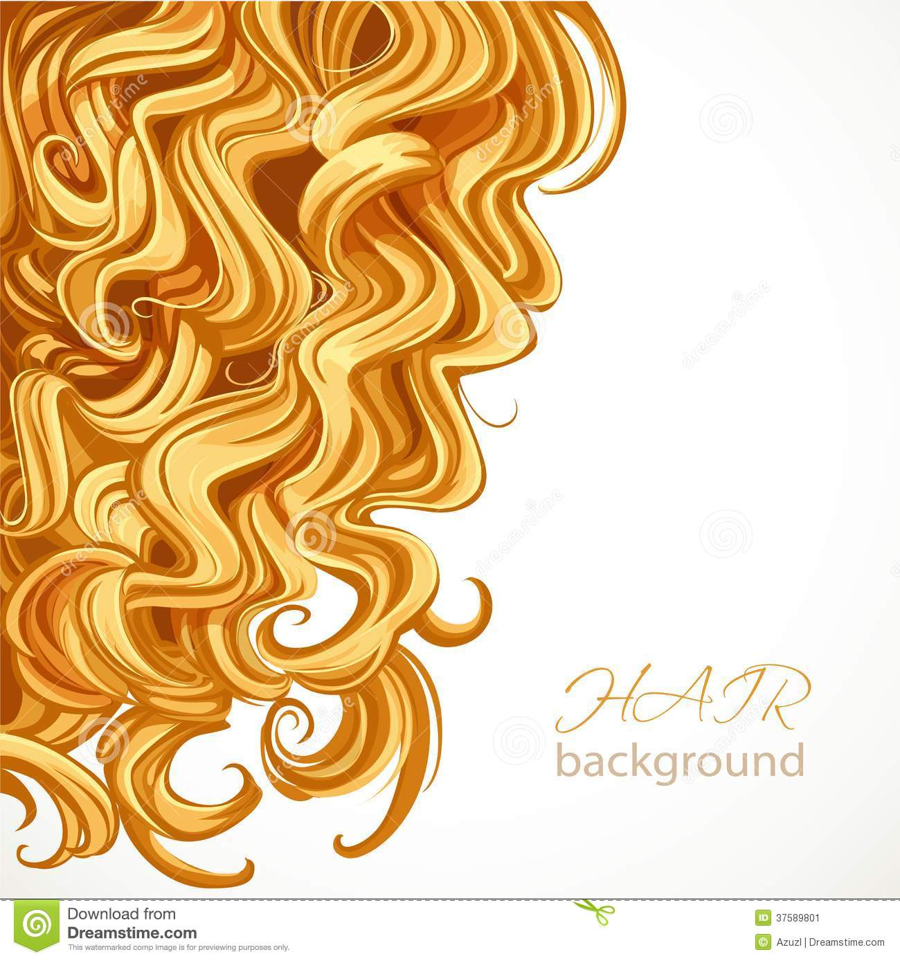 Background With Blond Curly Hair Stock Image Image 37589801