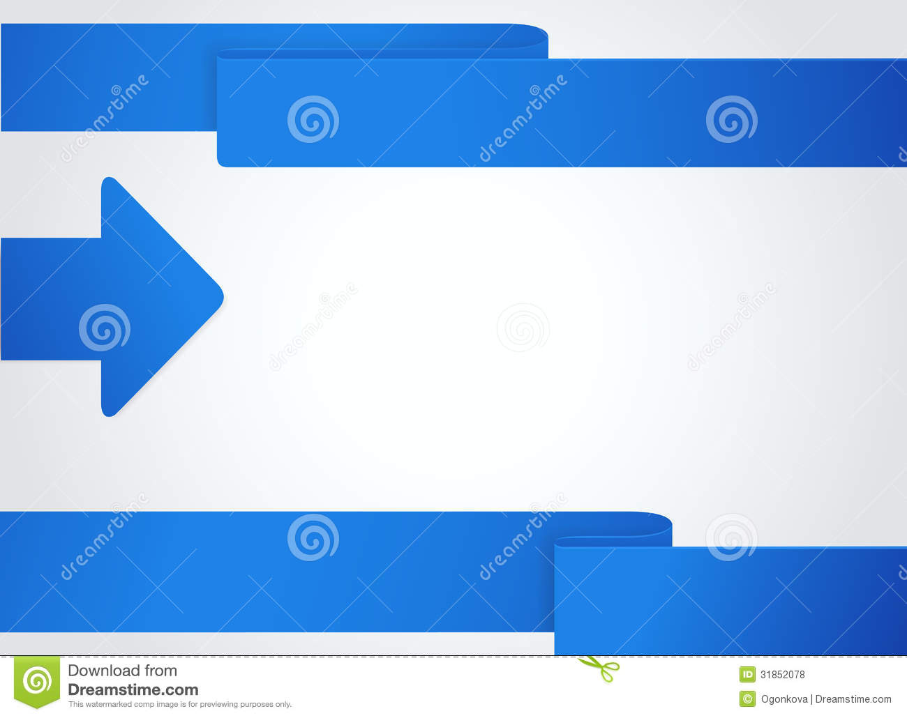 Background with blue arrow business banner stock vector - Text banner design ...