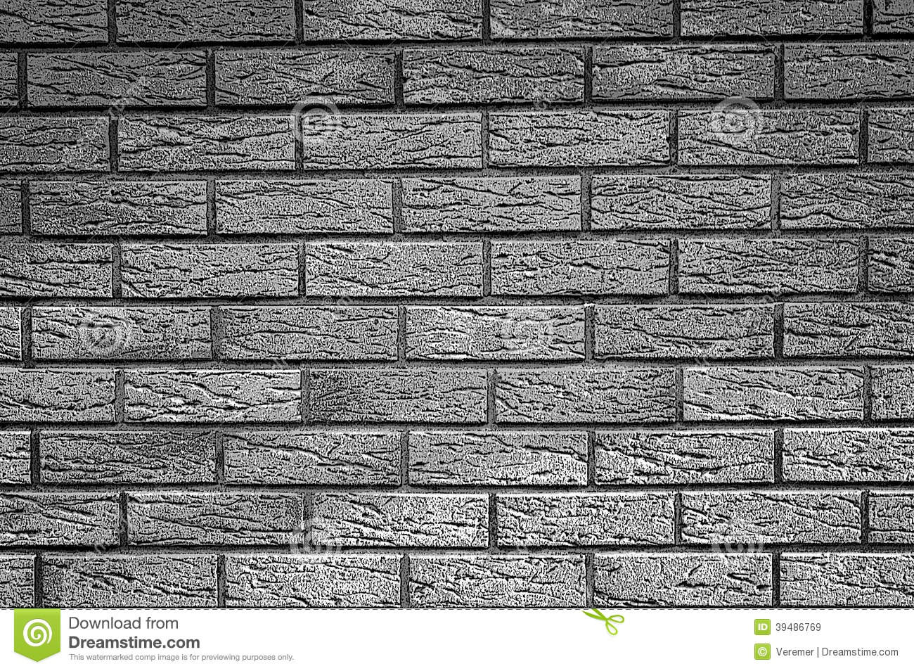 Background Of Brick Wall Texture - Black And White Graphic ...