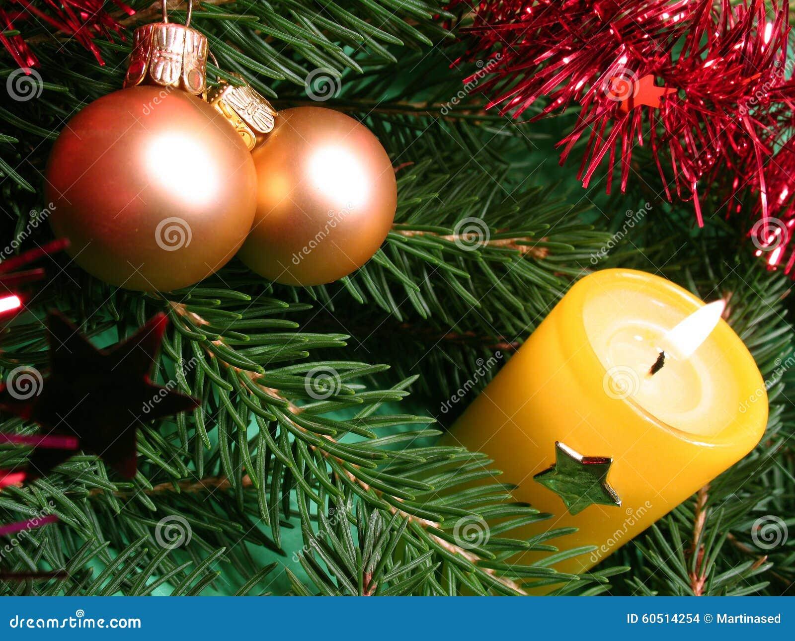 Background candle christmas decoration gift golden xmas