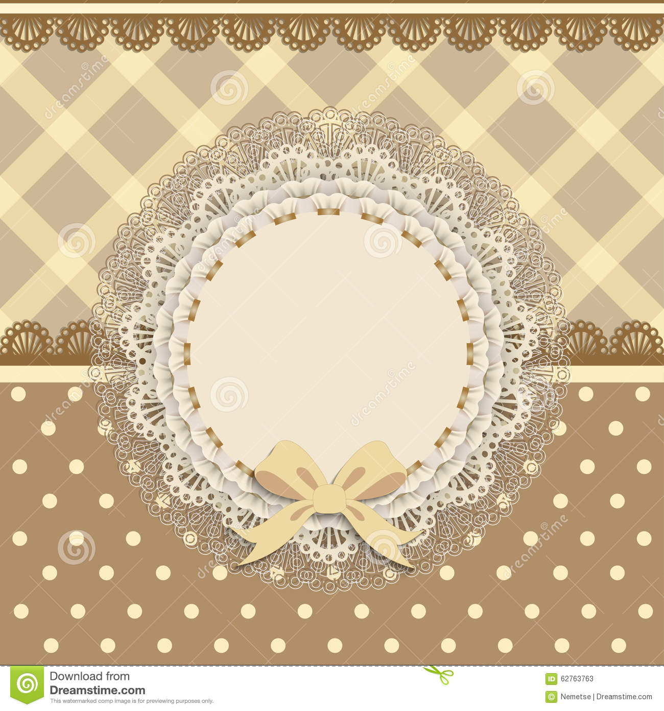 Background Card With A Cloth Napkin And Bow Stock Vector ...
