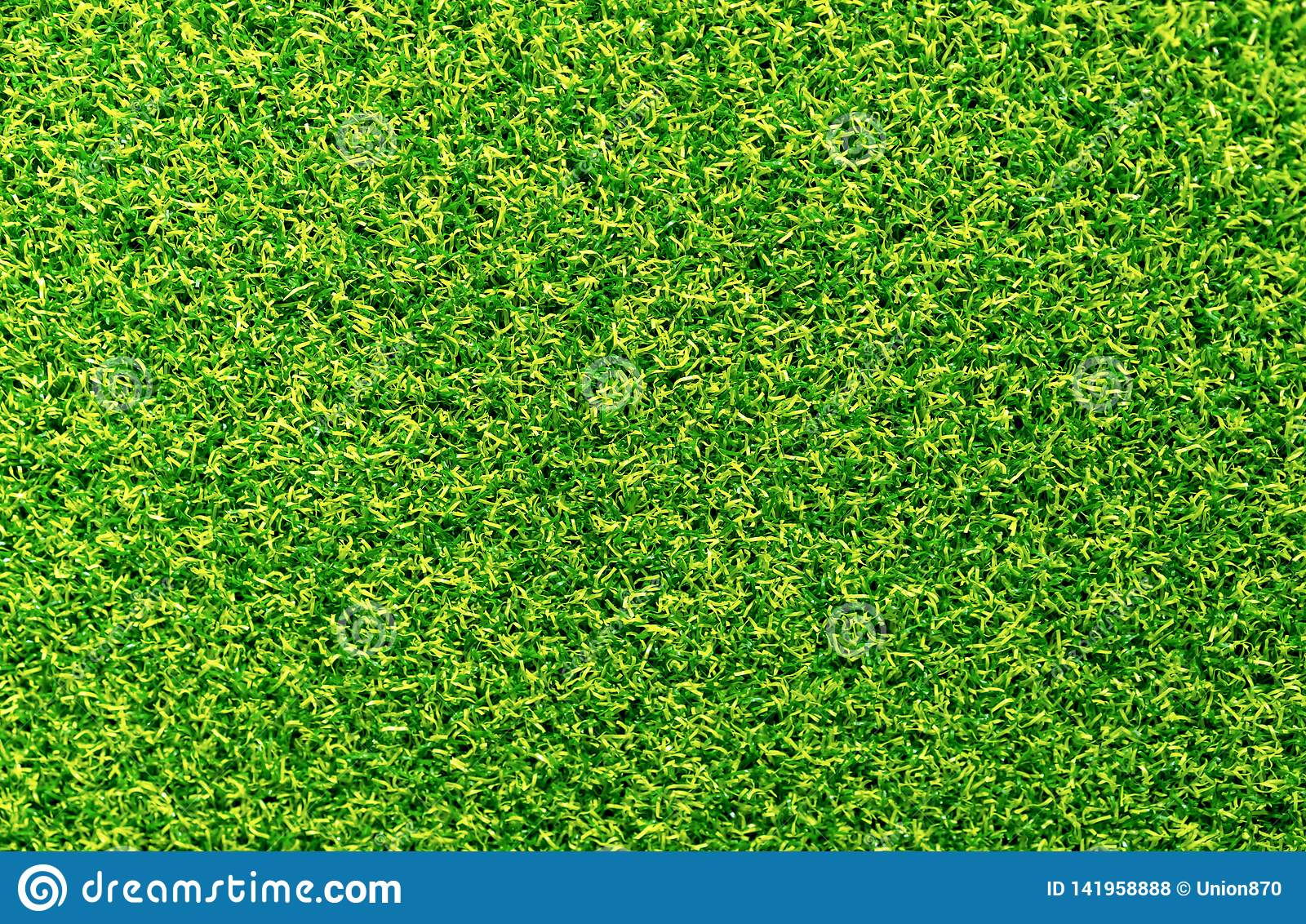 Background carpet with green and yellow soft nap